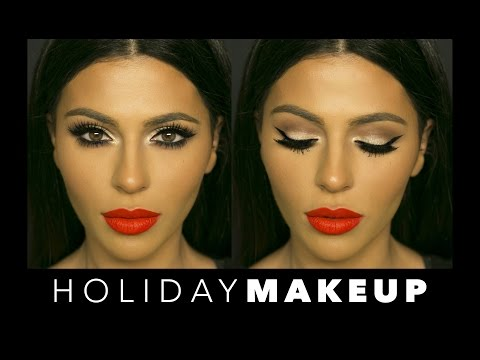 Winged Eyeliner + Red Lips | Holiday Makeup | Teni Panosian