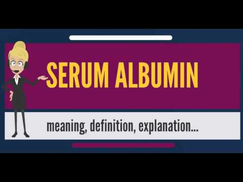 What Is SERUM ALBUMIN? What Does SERUM ALBUMIN Mean? SERUM ALBUMIN Meaning, Definition & Explanation