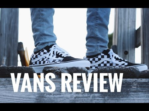 Old Skool Checkerboard Vans Review On Feet Vans Custom Youtube