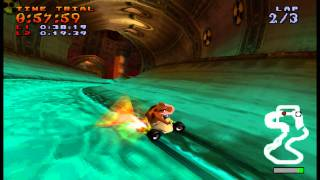 Crash team racing -  Sewer speedway time trial playthrought