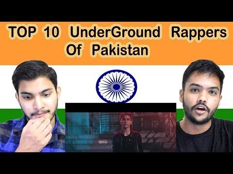 Indian reaction on  TOP 10 UnderGround Rappers  Of Pakistan | Swaggy d