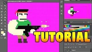 8bit Animation Tutorial - PIXEL ART FOR GAMES