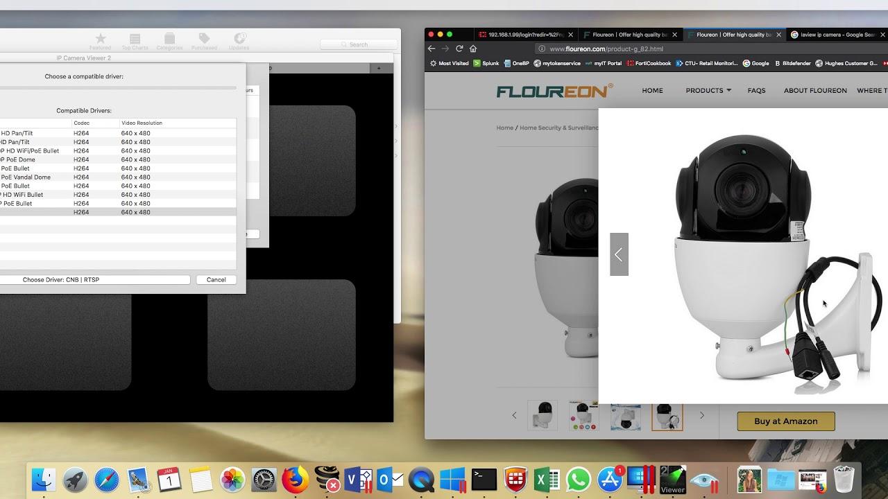 Floureon 1080- PTZ ipcamera Setup - MAC OS