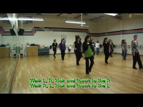 Johnny Got a Boom Boom Line Dance (Demo & Walk Through)