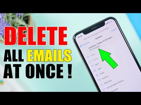 Delete ALL iPhone EMAILS At Once * HIDDEN TRICK *