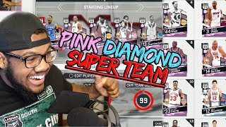 NBA 2k17 MyTeam - All Pink Diamond 99 OVR Super Team! Fan Freaks Out on Mic!