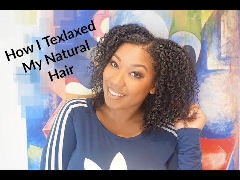 How I Texlax My Natural Hair Using Just For Me Youtube