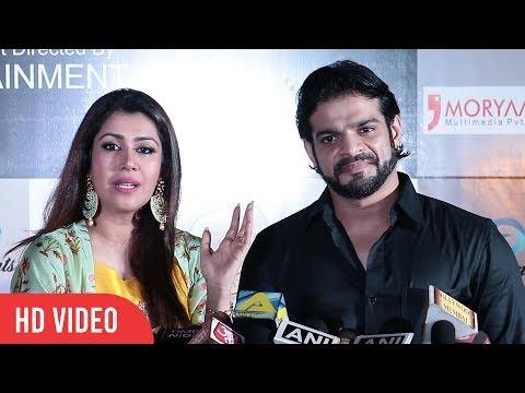 Karan Patel with wife Ankita at Dadasaheb Phalke Awards 2018   Best Actor Television Male