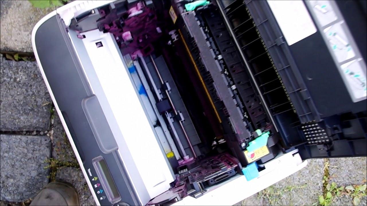 Drucker Konika Minolta reinigen Fehler 001B oder 0018