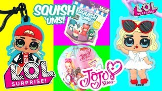 LOL Surprise Dolls Blind Bag Adventure! With LOL Doll Light Ups, Squish Ums, and Jojo Siwa Bows!