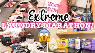 EXTREME LAUNDRY MARATHON 2021 // ULTIMATE LAUNDRY MOTIVATION // DAYS OF LAUNDRY ROUTINE