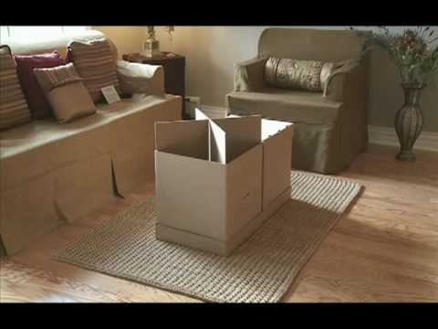 Beau Home Staging Furniture: Stage An Empty House In Minutes With Cardboard  Furniture   YouTube