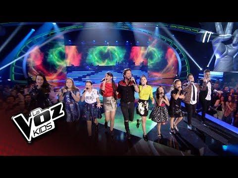 """Manuel Carrasco y finalistas: """"Yo quiero vivir"""" – Final – La Voz Kids 2018"""
