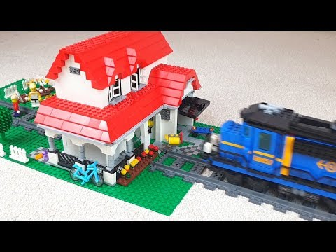 Lego train crash into family house