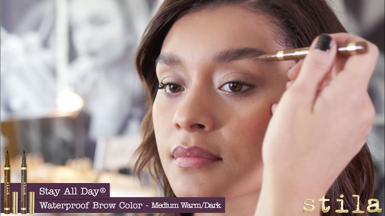 How To Stay All Day Waterproof Brow Color Youtube