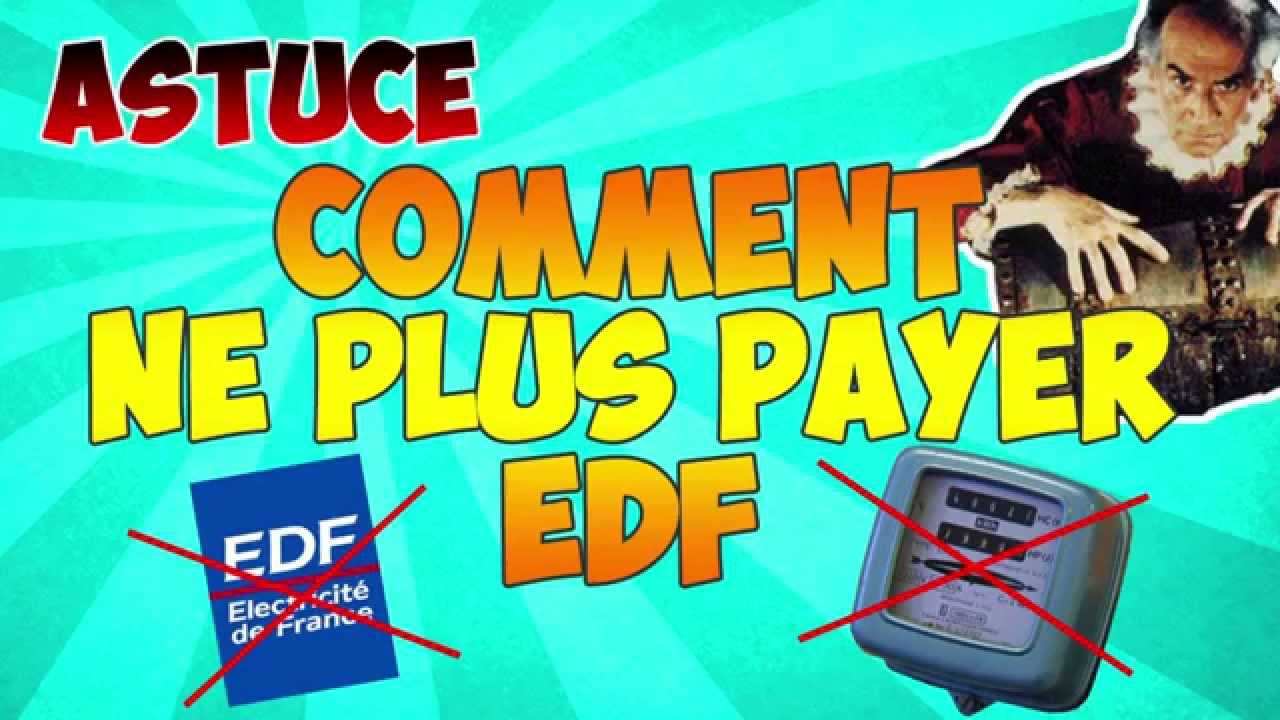 Comment ne plus payer l 39 lectricit edf astuce youtube - Astuce electricite statique vetement ...