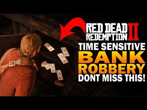Time Sensitive! Bank Robbery For Easy Money! Don't Miss This! Red Dead Redemption 2 [RDR2]
