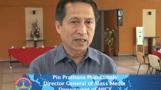 Lao NEWS on LNTV-200 students and officials enhance readiness for  ASEAN Comm. 25/6/2013