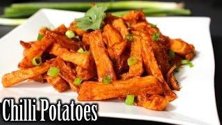 Chilli Potatoes Recipe   Potato Wedges Recipe   How to Make Chilli Potatoes   Nehas Cookhouse