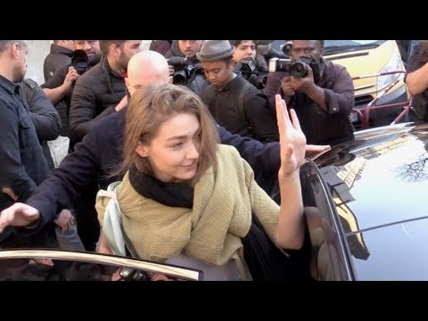 EXCLUSIVE : Gigi Hadid coming out of the 2019 Lanvin show in Paris