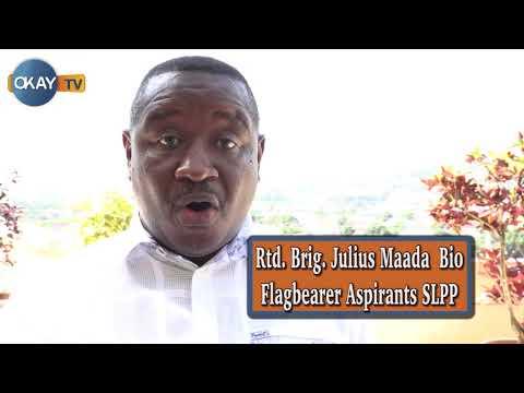 Rtd. Brig. Julius Maada Bio talks to Okay Tv Sierra Leone