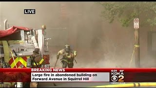 4-Alarm Fire Consumes Building In Squirrel Hill