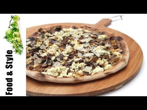 Mushroom Pizza With Ricotta & Garlic Confit Spread