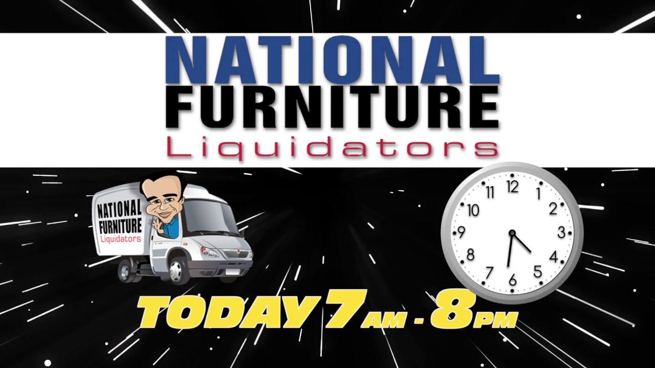 18 Hour Sale Starts Saturday At National Furniture Liquidators