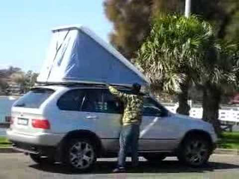 & APOLLO FIBERGLASS CAR ROOF TOP RACK CAMPING TENT BOX - YouTube