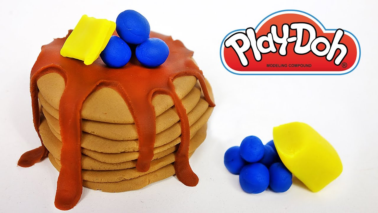 play doh food breakfast pancakes blueberries yummy easy how to make youtube. Black Bedroom Furniture Sets. Home Design Ideas