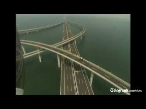 Amazing engineering feat: World's longest sea bridge opened in China