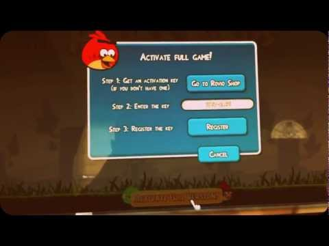 angry birds activation code