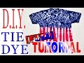 Tie Dye a Red, White and Blue Shirt [Long Tutorial] #50