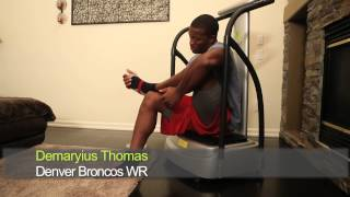 see what nfl all pro demaryius thomas says about his zaaz machine