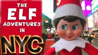 ELF ON THE SHELF / ELF'S ADVENTURES / NEW YORK CITY / NYC / ROCKEFELLER CENTER / TIMES SQUARE