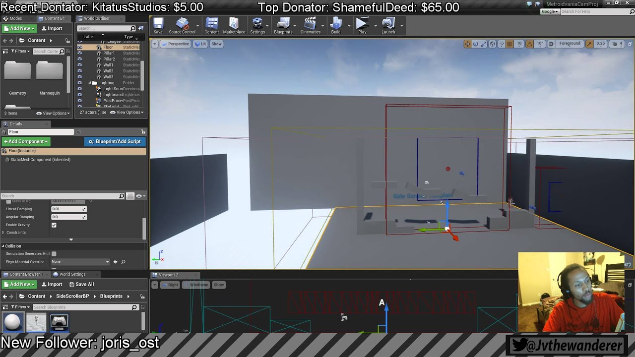 How to make a metroidvania 2d camera blueprint system on ue4 part how to make a metroidvania 2d camera blueprint system on ue4 part 6 malvernweather Gallery