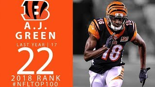 #22: a.j. green (wr, bengals) | top 100 players of 2018 | nfl