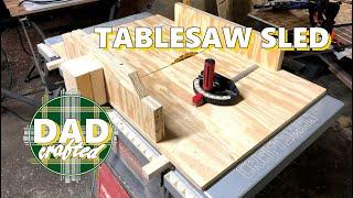Tablesaw Sled | DIY | Craftsman miter slot workaround