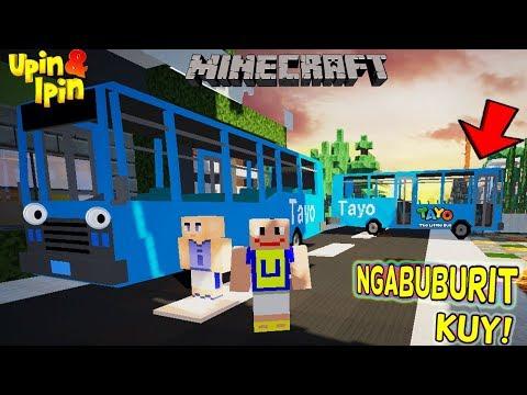 UPIN IPIN NGABUBURIT NAIK BUS TAYO! - Minecraft Lucu