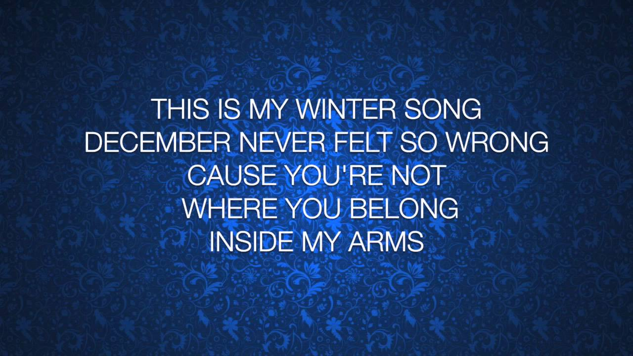 ingrid michaelson sara bareilles winter song lyrics. Black Bedroom Furniture Sets. Home Design Ideas