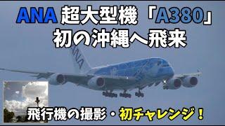 ANA 超大型機「A380」初の沖縄へ飛来!!総2階建ての超大型旅客機エアバスA380「フライング・ホヌ」┃Naha Airport┃Airbus A380