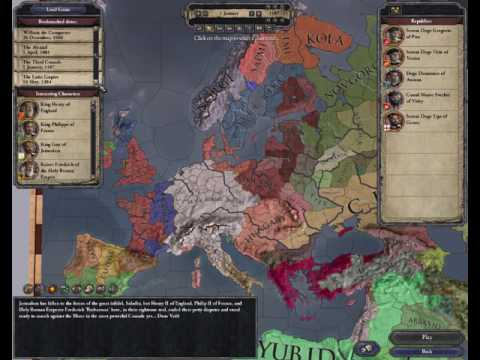 Europe map from 769 AD to 1337 AD - Crusader King II