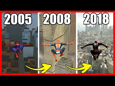 Jumping From the Highest Points | Spider-Man Games (2004 - 2018)