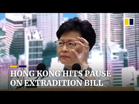 Hong Kong Chief Executive Carrie Lam hits pause on controversial extradition bill