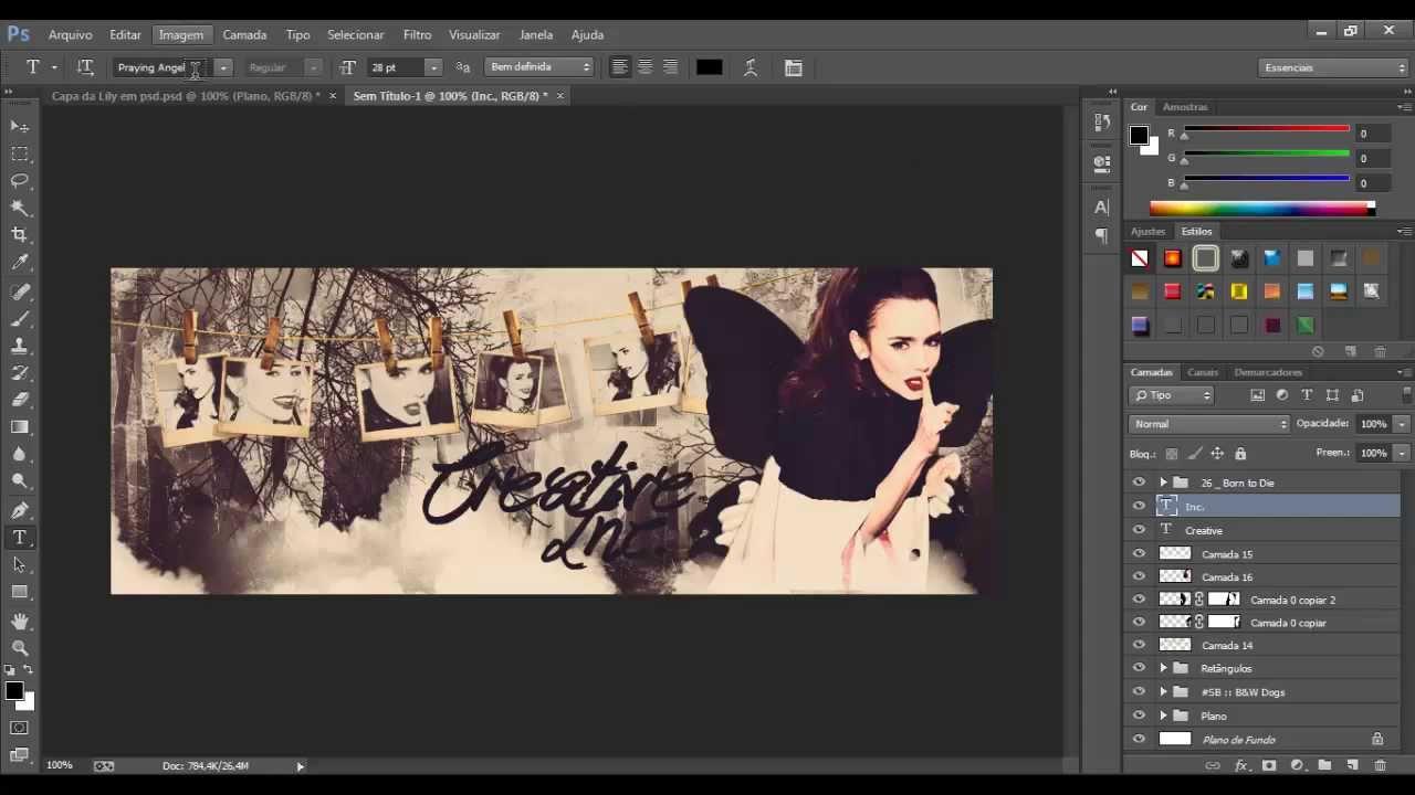 Criando Banner no Photoshop para Postagem no Facebook