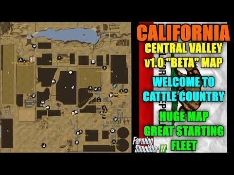 "Farming Simulator 17 - California Central Valley v1.0 ""Beta Map ""Map Mod Review"""