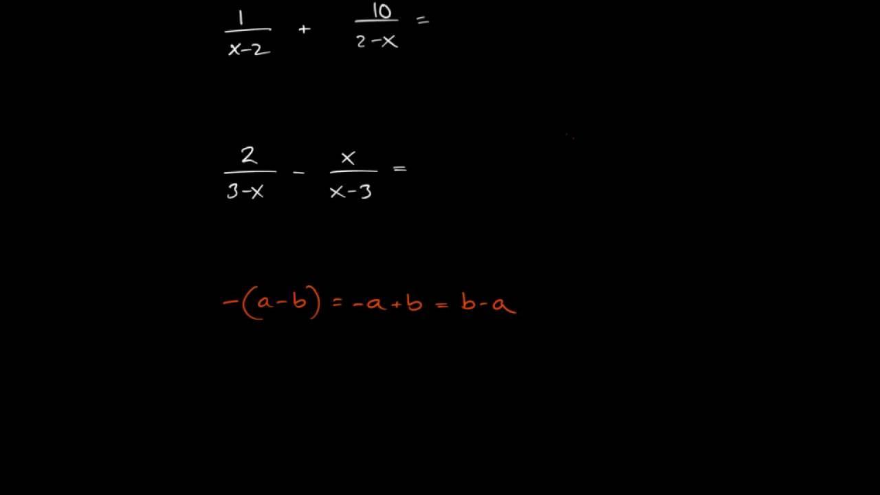 Matematik 3: Rationella uttryck - förkortning och förlängning