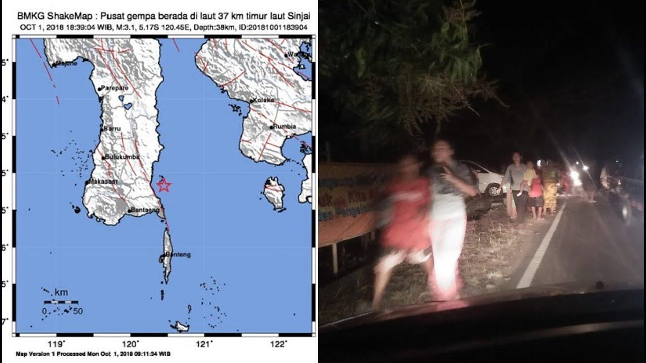 Gempa Bumi Hari Ini di Sinjai, Warga Panik dan Berlarian