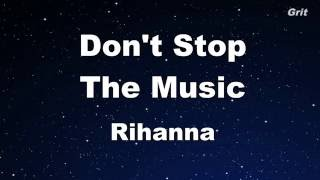 Don't Stop The Music - Rihanna Karaoke 【No Guide Melody】 Instrumental