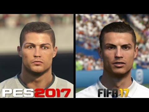 FIFA 17 vs PES 2017 Faces Comparison - Real Madrid: Ronaldo, Benzema, Bale